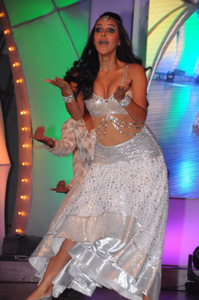 Neha Dhupia Sexy Performance At TSR-TV9 National Film Awards 2011-2012 Presentation Function