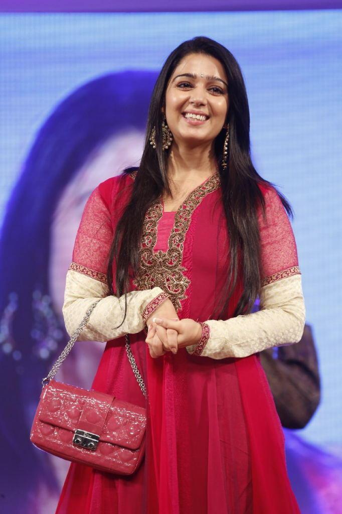 Charmy Kaur Fashionable Look At TSR TV9 Film Awards Function