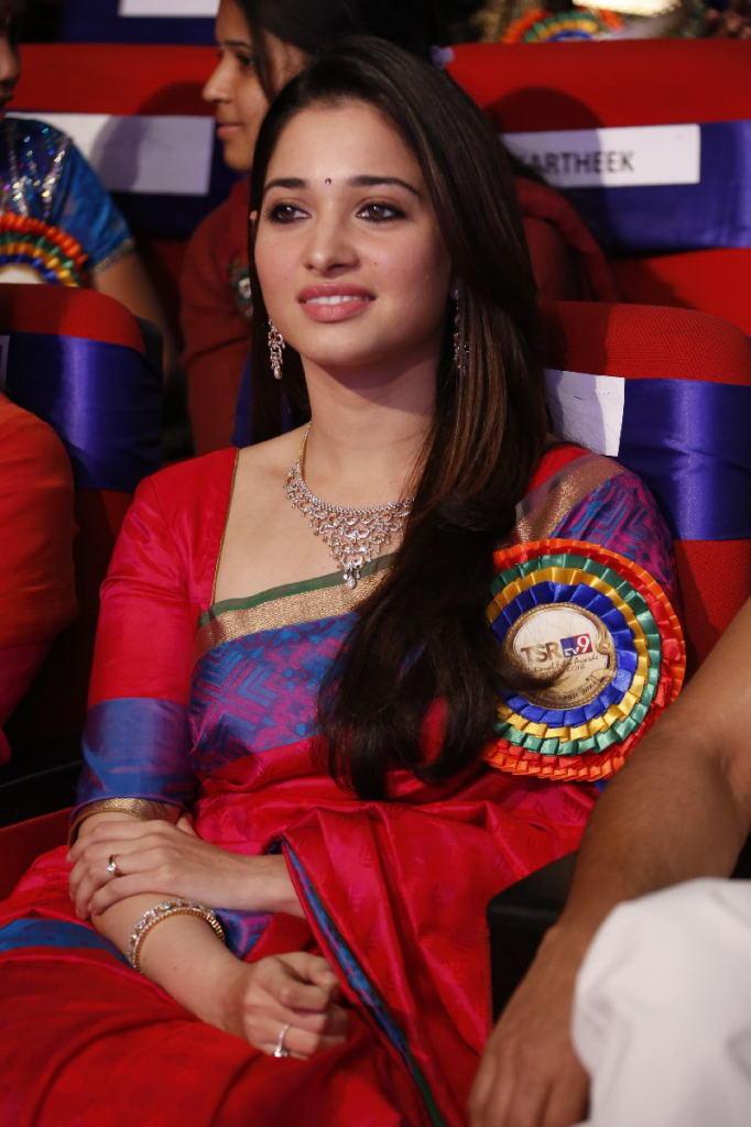 Tamannaah Bhatia Nice Look At TSR TV9 Film Awards Function