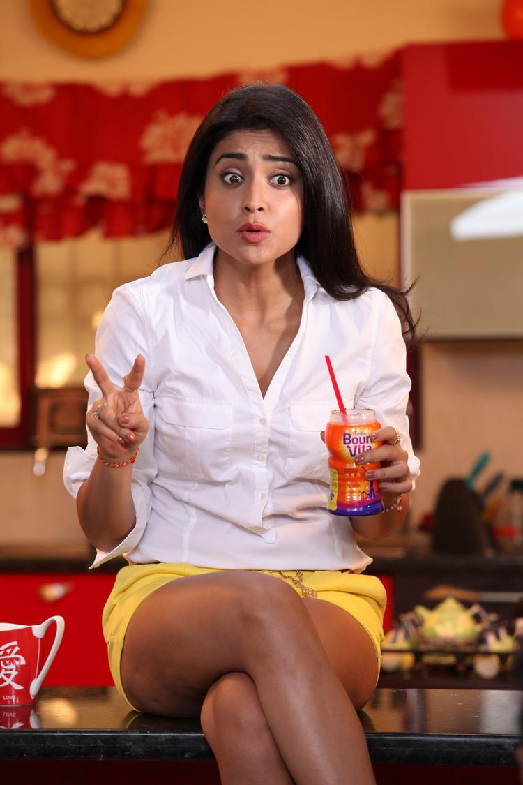 Shriya Saran Sexy Bold Look Still From Pavitra Movie