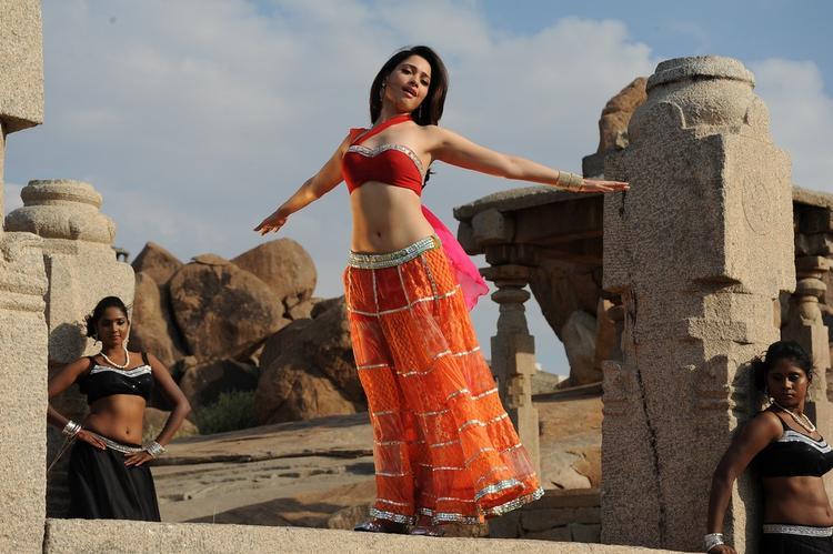 Tamannaah Bhatia Dancing Pose Still From Thadaka Movie