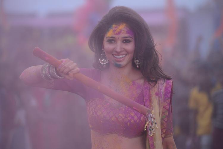 Tamannaah Bhatia Smiling Look Still From Thadaka Movie