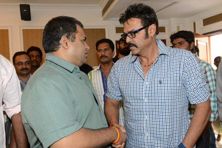S. Thaman And Venkatesh Discussion Still At Shadow Platinum Disc Function