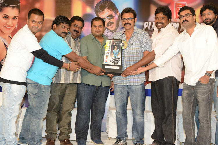 S. Thaman,Venkatesh,Meher And Gopi Graced At Shadow Platinum Disc Function