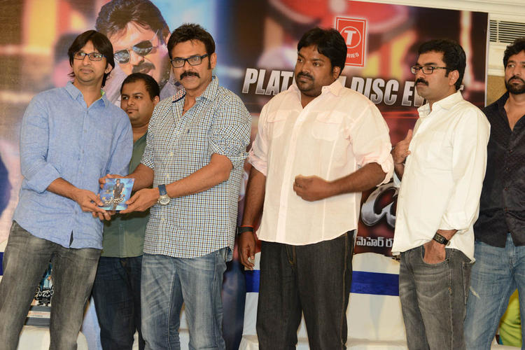 Venkatesh,Meher And Gopi At Shadow Platinum Disc Function