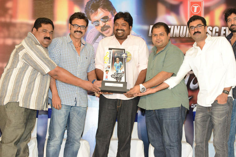 Venkatesh,Meher,S. Thaman And Gopi Attend The Shadow Platinum Disc Function