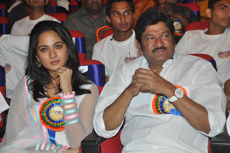 Anushka Shetty Dazzles At TSR-TV9 National Film Awards 2011-2012 Presentation Function