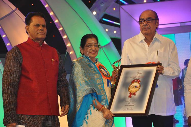 T.Subbarami Reddy,P. Susheela And D. Ramanaidu Clicked At TSR-TV9 National Film Awards 2011-2012 Presentation Function