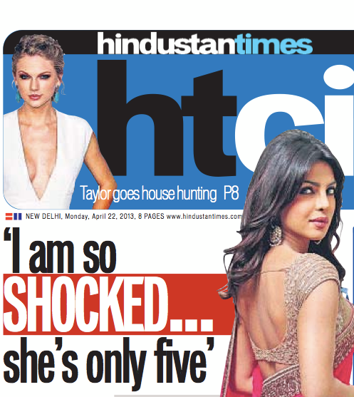 Priyanka Chopra On HT Cafe Regarding Five Years Child Raped In Delhi