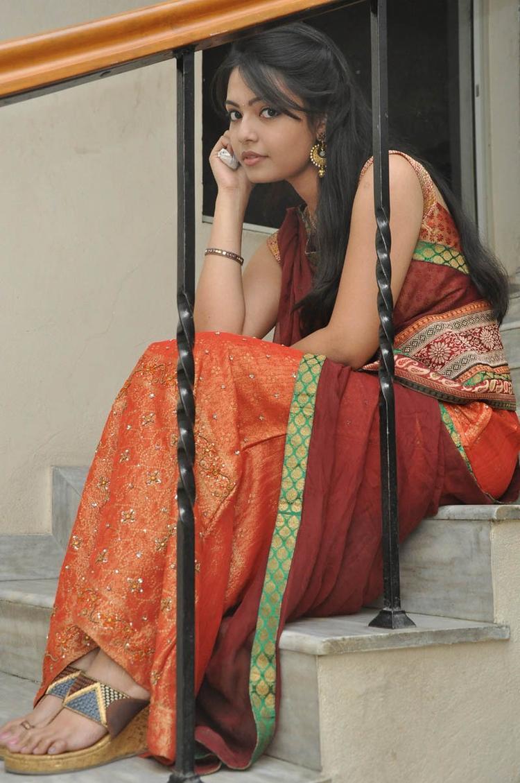 Mareena In Half Saree Beautiful Look Still