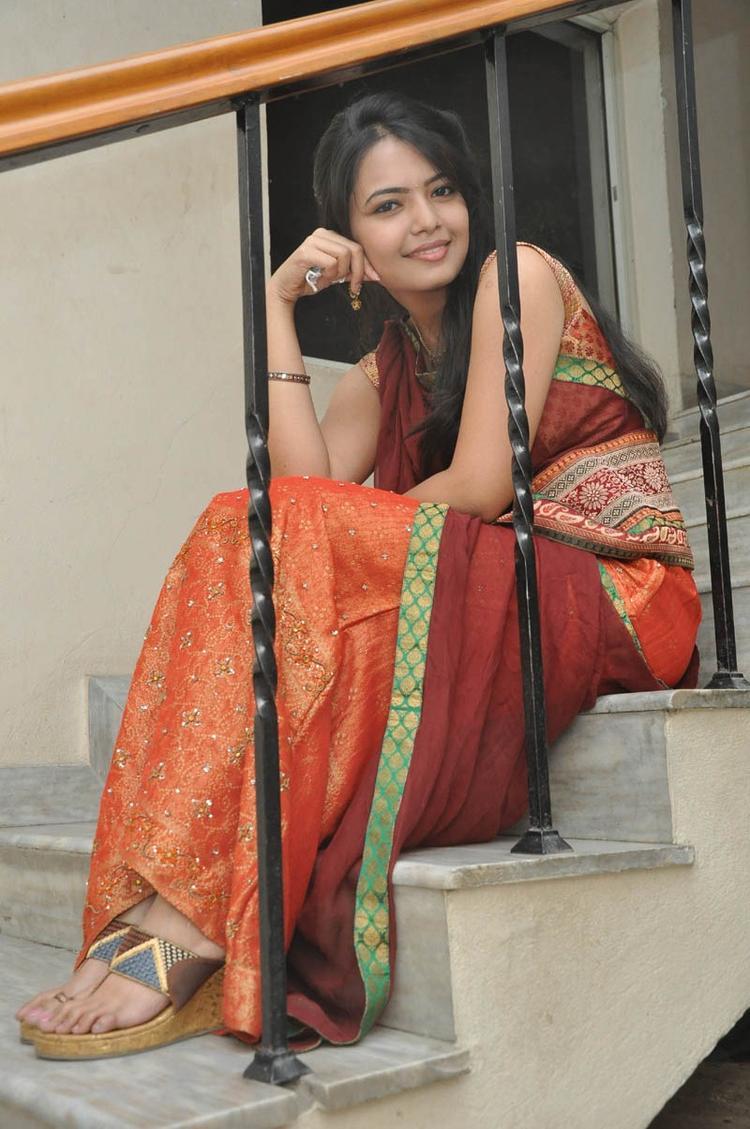 Mareena In Half Saree Cute Still