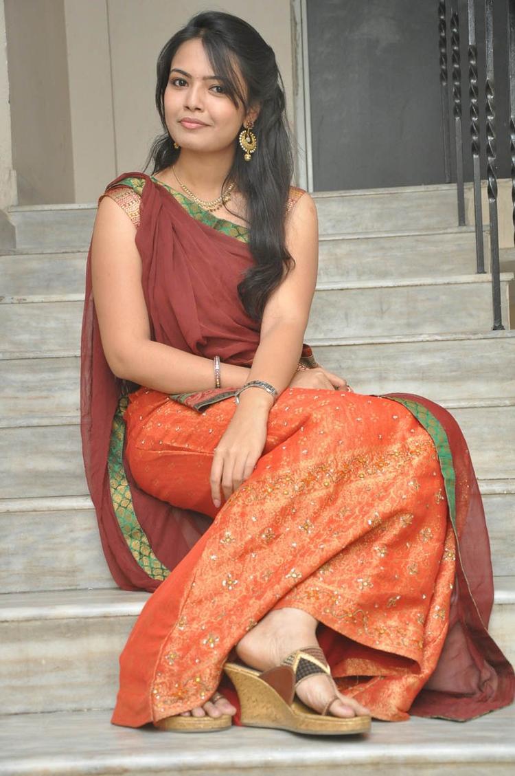 Mareena In Half Saree Hot Look Still