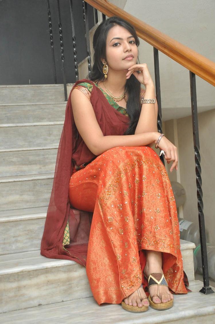 Mareena In Half Saree Nice Look Still