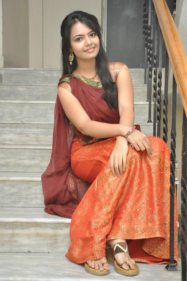 Mareena In Half Saree Trendy Look Still