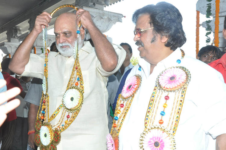 K Raghavendra Rao And Dasari Narayana Rao Graced At Mohan Babu New Movie Opening Event