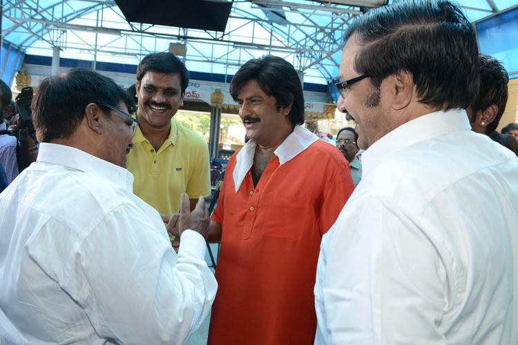 Mohan Babu Smiling Look At Mohan Babu New Movie Opening Event