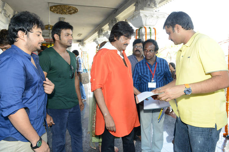Tanish,Manoj And Mohan Chatting Still At Mohan Babu New Movie Opening Event