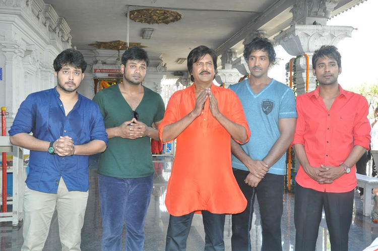 Tanish,Manoj,Mohan,Vishnu And Varun Posed For Camera At Mohan Babu New Movie Opening Event