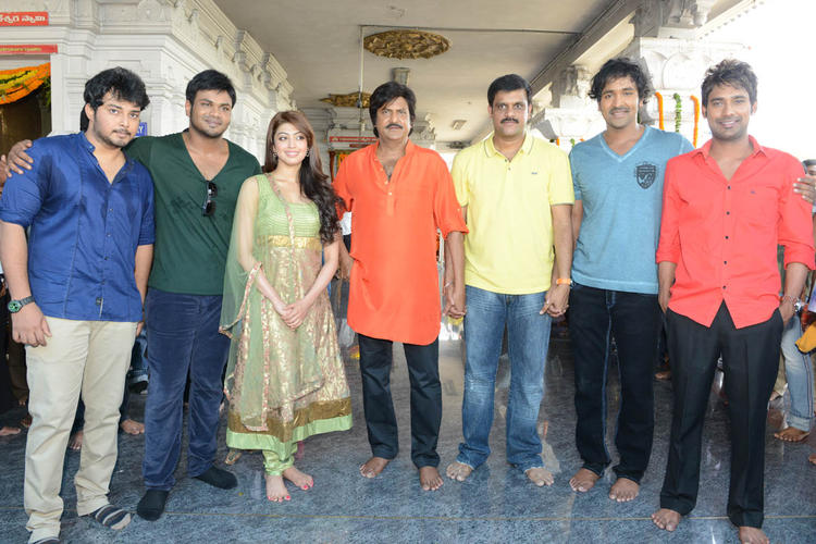 Tanish,Manoj,Pranitha,Mohan,Vishnu And Varun Clicked At Mohan Babu New Movie Opening Event