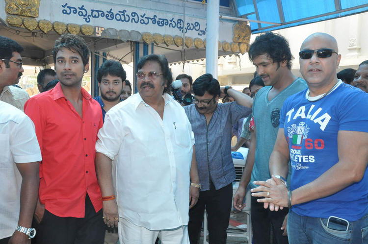 Varun,Dasari Narayana,Tanish And Vishnu During The Mohan Babu New Movie Opening Event