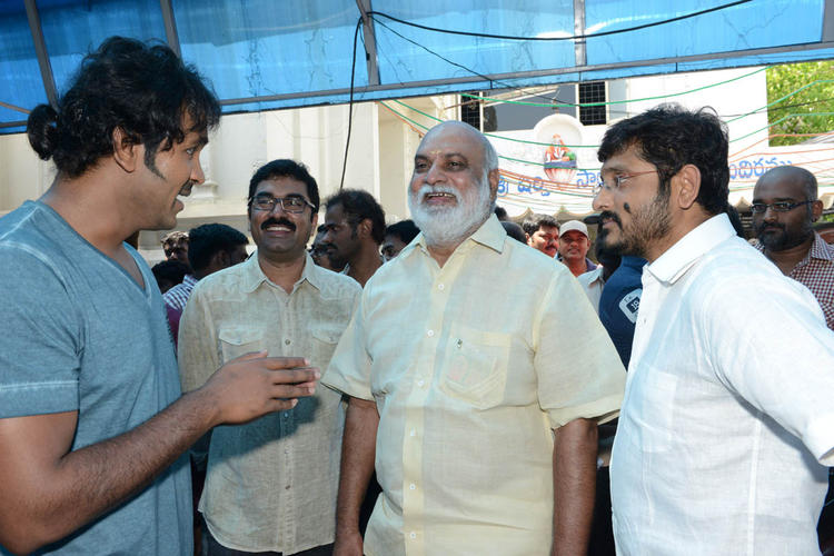 Vishnu And K Raghavendra Cool Gossip At Mohan Babu New Movie Opening Event