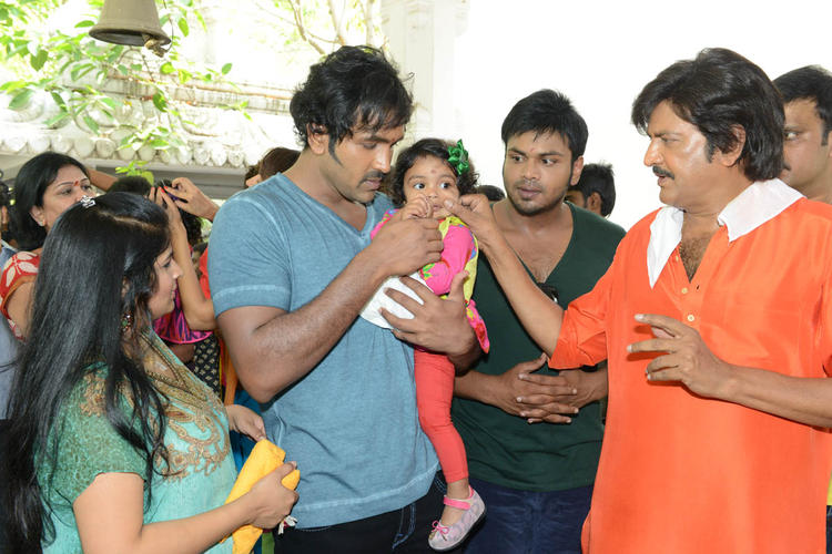 Vishnu,Manoj And Mohan Cool At Mohan Babu New Movie Opening Event