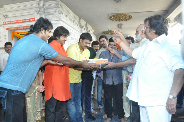Vishnu,Mohan,K Raghavendra And Dasari Narayana At Mohan Babu New Movie Opening Event