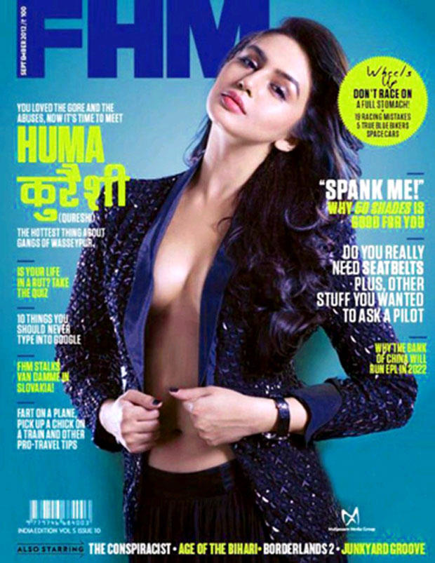 Huma Qureshi Exclusive Sexy Look On The Cover Of FHM Magazine April 2013