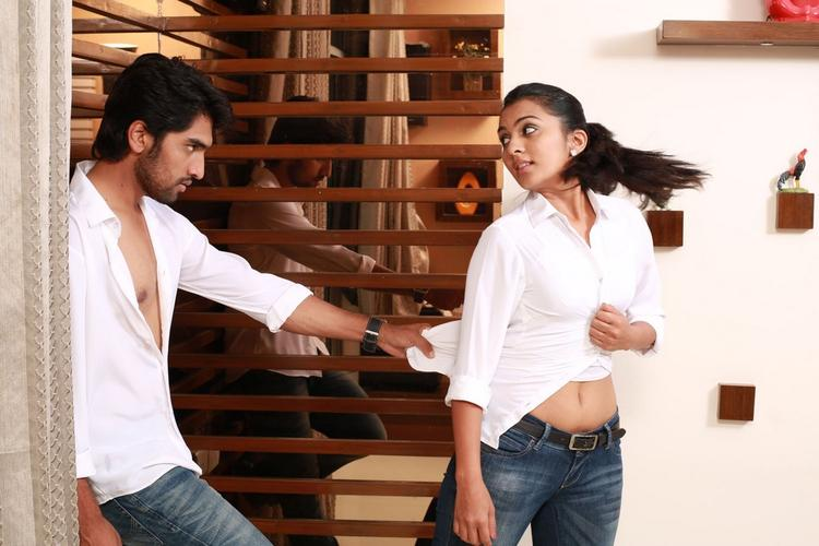Anish And Sindhu Hot Sexy Still From Coffee With My Wife Movie
