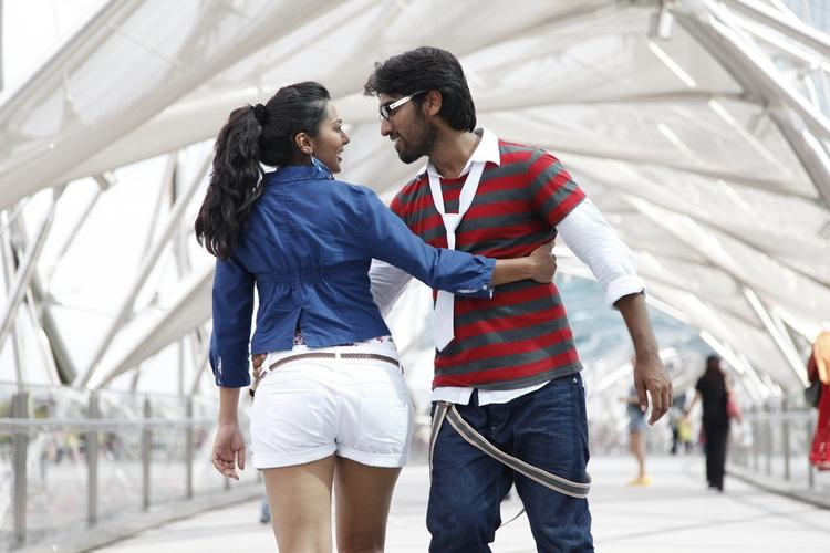 Sindhu And Anish Dancing Still From Coffee With My Wife Movie