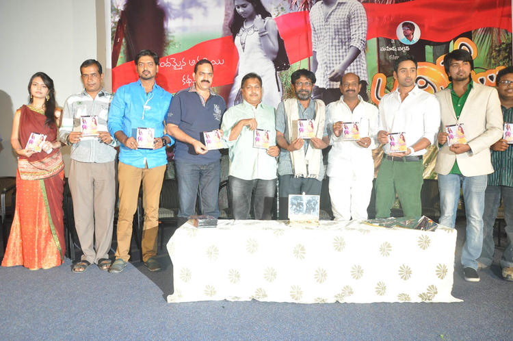 Mereena And Others Posed For Camera At Nachithe Movie Audio Launch Event