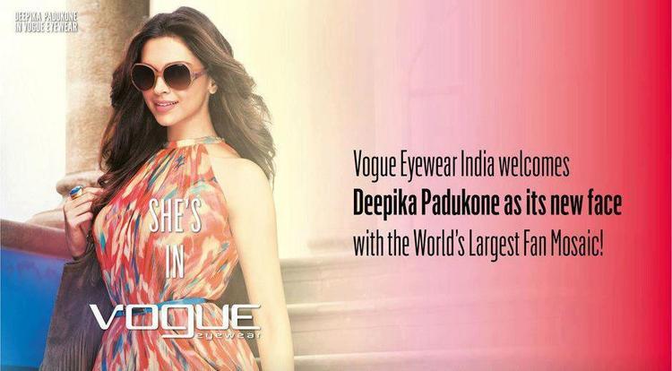 Deepika Padukone Spicy Hot Look Photo Shoot For Vogue Eyewear