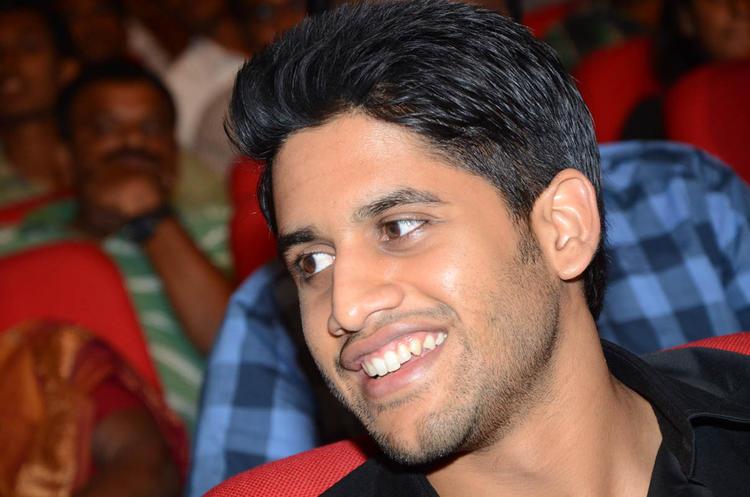 Naga Chaitanya Smiling Look At Tadakha Movie Audio Release Function