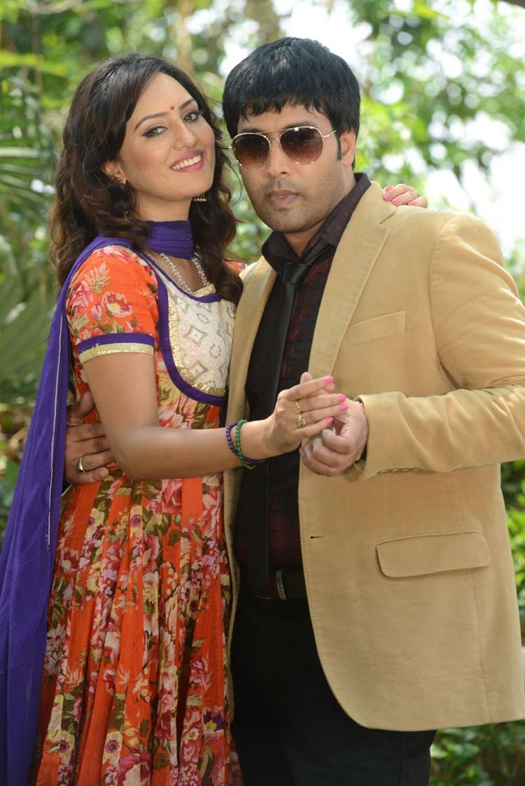 Kavitha And Jai Akash Smiling Pose At Donga Prema Movie Opening Event