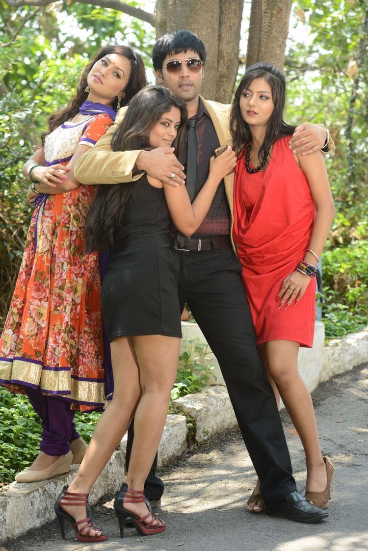 Kavitha,Seethal,Jai Akash And Khushi Cool Posed At Donga Prema Movie Opening Event