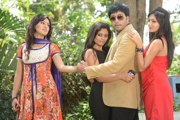Kavitha,Seethal,Jai Akash And Khushi Nice ANd Cool Pose At Donga Prema Movie Opening Event