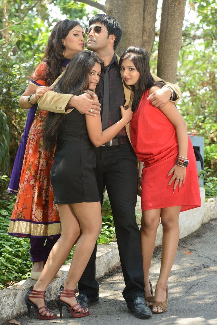 Kavitha,Seethal,Jai Akash And Khushi Posed For Camera At Donga Prema Movie Opening Event