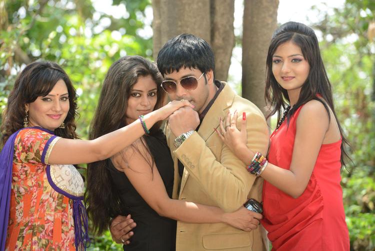 Kavitha,Seethal,Jai Akash And Khushi Posed During The Donga Prema Movie Opening Event