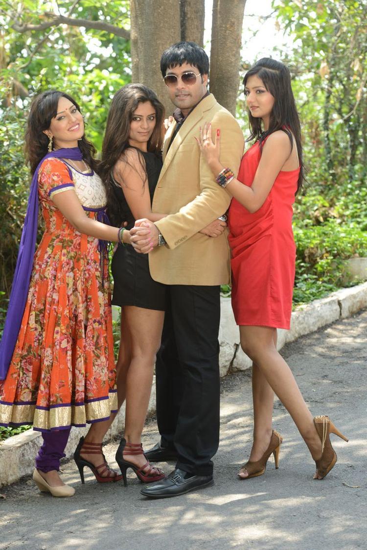Kavitha,Seethal,Jai Akash And Khushi Strikes A Pose At Donga Prema Movie Opening Event