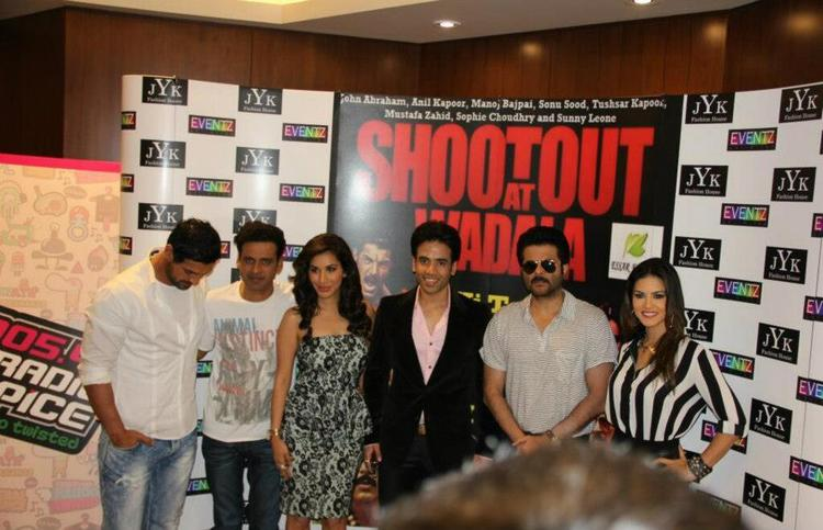 John,Manoj,Sophie,Tusshar,Anil And Sunny Posed At Dubai For Shootout At Wadala Press Conference