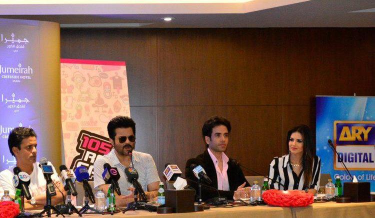 Manoj,Anil,Tusshar And Sunny Speaking At Dubai For Shootout At Wadala Press Conference