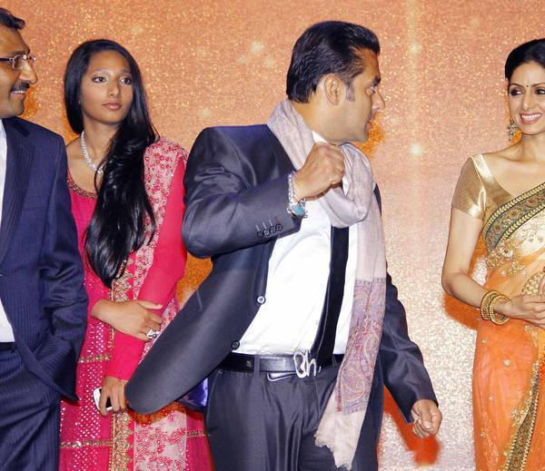 Salman And Sridevi Cool At Jai Maharashtra Channel Launch Function