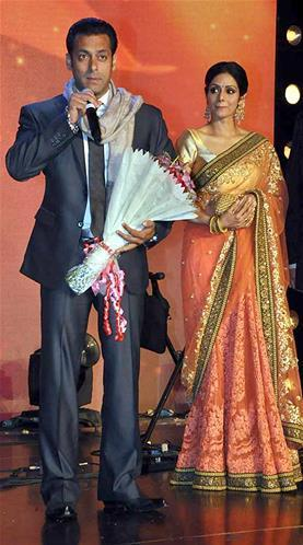 Salman And Sridevi At Jai Maharashtra Channel Launch Function
