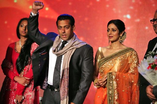 Salman And Sridevi Rocked On The Stage At Jai Maharashtra Channel Launch Function
