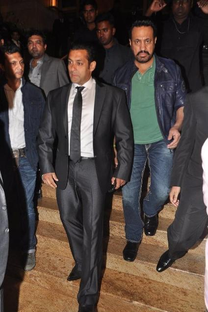 Salman Khan With Bodyguard Shera During The Jai Maharashtra Channel Launch Function