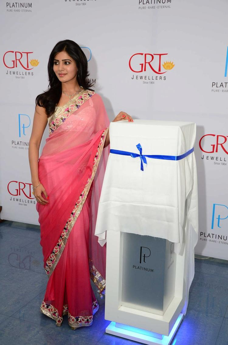 Samantha Strikes A Pose At GRT Jewellers