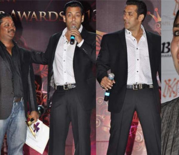 Salman Khan Graced At Bharat N Dorris Hair Styling And Make Up Awards 2013