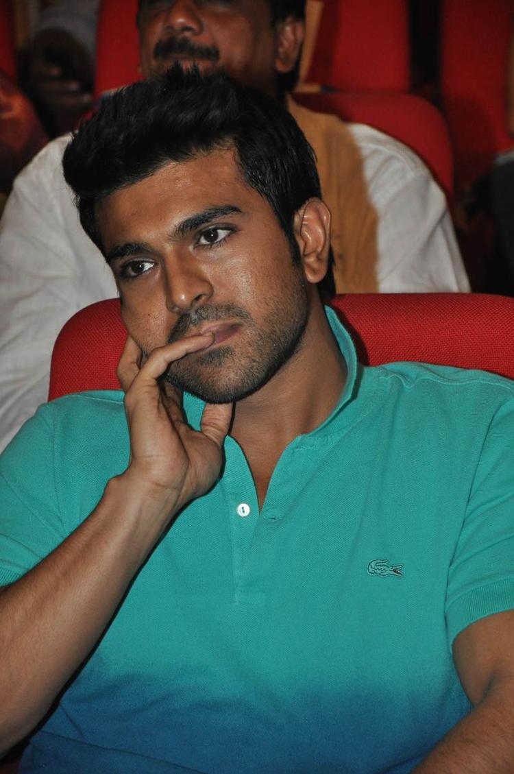 Ram Charan Teja Deep In Thought At Iddarammayilatho Audio Launch Function