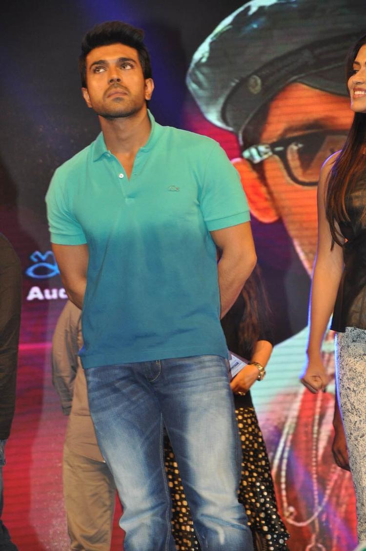 Ram Charan Teja Posed At Iddarammayilatho Audio Launch Function