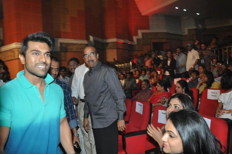 Ram Charan Teja Smiling Look At Iddarammayilatho Audio Launch Function